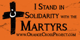 Orange Cross Project Martyr Solidarity Bumper Sticker