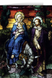 Flight into Egypt II Stained Glass Christmas Cards (25 Cards)