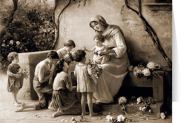Adoration Sepia  Christmas Cards (25 Cards)