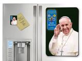 Pope Francis Waving Commemorative Apostolic Journey Magnet