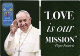 Pope Francis Waving Commemorative Apostolic Journey Diptych
