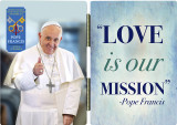 Pope Francis Thumbs Up Commemorative Apostolic Journey Diptych