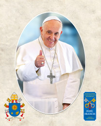 Pope Francis Thumbs Up Commemorative Sleeved Print