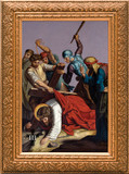Stations of the Cross in Gold Frames (Set of 14)
