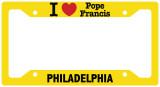 I Love Pope Francis Philadelphia License Plate Frame