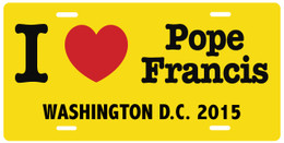 I Love Pope Francis Washington D.C.  License Plate