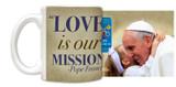 Pope Francis embracing Child Commemorative Visit Mug