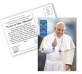 Pope Francis Thumbs Up Commemorative Apostolic Journey Postcards