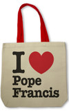 I Love Pope Francis Totebag