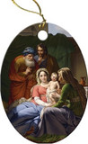 Holy Family with Grandparents Joachim and Anne Porcelain Ornament