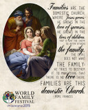 Festival of Families Francis Quote Commemorative Sleeved Print