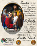 World Meeting of Families Icon with Pope Quote Commemorative Sleeved Print