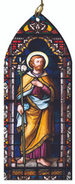 St. Joseph, Foster Father of Jesus Stained Glass Wood Ornament