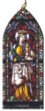 St. Barbara Stained Glass Wood Ornament