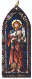 St. John the Baptist Stained Glass Wood Ornament