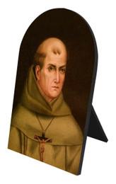 St. Junipero Serra Arched Desk Plaque