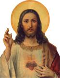 Sacred Heart Visor Clip