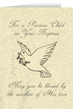 Child's Baptism Beige Greeting Card