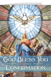 Our Lady of Pentecost Confirmation Greeting Card