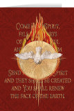 Holy Spirit Fire Red Confirmation Greeting Card
