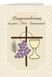 First Communion Symbols Greeting Card