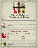RCIA Sacrament Certificate of Initiation Unframed
