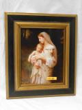 L'Innocence 8x9 Black and Gold Framed Print