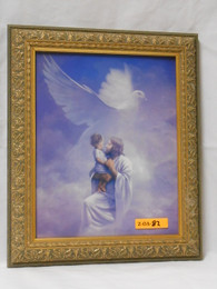 Christ and Child 8x10 Ornate Gold Framed Print