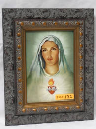 Immaculate Heart of Mary 5x7 Antiqued Framed Print