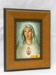 Immaculate Heart of Mary 5x7 Rustic Framed Print