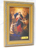 Mary Undoer of Knots 5x8 Gold and Silver Framed Print