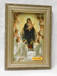 Queen of the Angels 5x8 Light Gold Framed Print