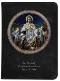 Personalized Catholic Bible with Bread of Angels - Black NABRE