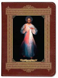Personalized Catholic Bible with Divine Mercy Vilnius Original Cover - Burgundy RSVCE