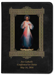 Personalized Catholic Bible with Divine Mercy Vilnius Original Cover - Black RSVCE
