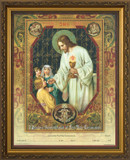 Christ the Living Bread - Gold Framed Certificate