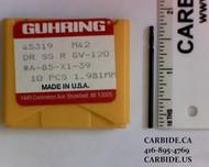 5/64 Cobalt Drill Guhring OD-0781-M42S