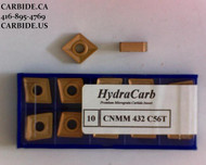 CNMM 432 C56T Tin Coated HydraCarb Carbide Insert