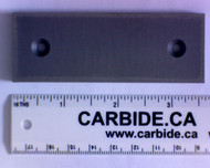 3/16 x 1-1/4 x 3-1/2 Carbide Wear Part HY10 (2 x 6/32 FHCS)