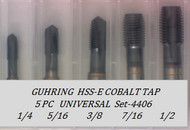 5PC NF Spiral Point Tap Universal Set-4406 GUHRING