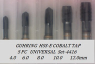 5PC NC Metric Spiral Point Tap Universal Set-4416 GUHRING