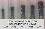 5PC NC Spiral Flute Tap Universal Set-4408 GUHRING
