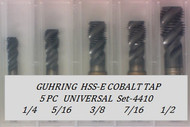 5PC NF Spiral Flute Tap Universal Set-4410 GUHRING