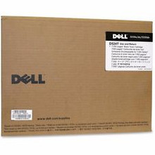 DELL IMPRESORA LASER 5230 5350 TONER NEGRO ORIGINAL STANDARD 7000 PGS USED & RETURNED NEW DELL C605T, D524T, 330-6989, A7247641