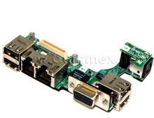 DELL INSPIRON 630M, 640M, E1405,  XPS M140 DC POWER JACK USB NIC VGA CIRCUIT BOARD REFURBISHED DELL 48.4E202.011