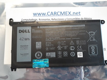 DELL INSPIRON 13 7368 15 5567 BATTERY ORIGINAL 3 CELL 42WHR 11.4V TYPE-WDX0R / BATERIA 42WHR NEW DELL, FC92N