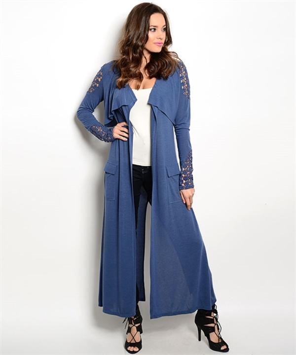 Denim Blue Cardigan
