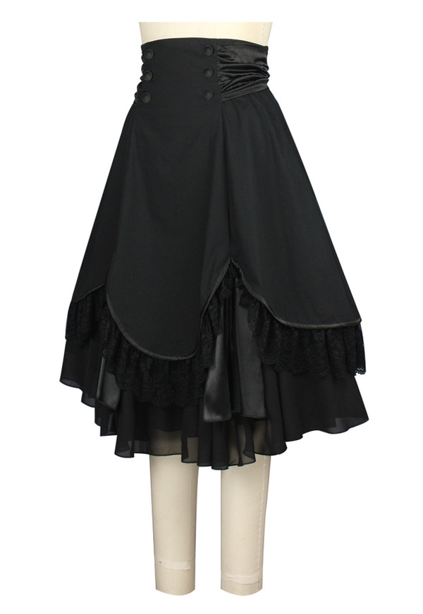 Beautiful Black Multi-Layered Skirt
