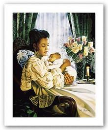 In Her Loving Arms II Art Print - Melinda Byers