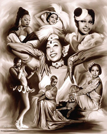 Brown Sugar - Josephine Baker Art Print - Wishum Gregory